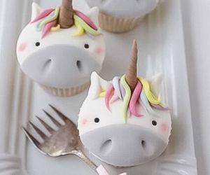 unicorn, cupcake, and cake image