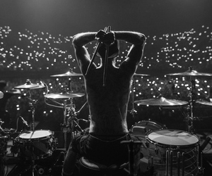 black and white, lights, and blink 182 image