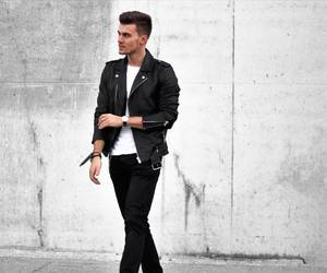fashion, handsome, and leather image