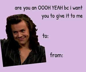 Harry Styles, card, and valentines day image