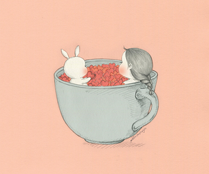 bunny, coniglio, and cup image