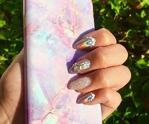 beauty, iphone, and nails image