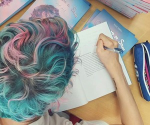 aesthetic, boy, and colored hair image