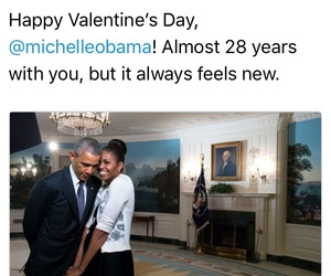 barack obama, michelle obama, and Valentine's Day image