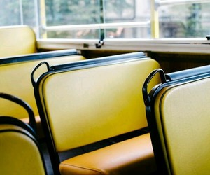 bus, yellow, and chair image