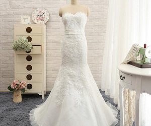 wedding dress, wedding dresses, and appliques wedding dress image