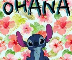 ohana, stitch, and wallpaper image