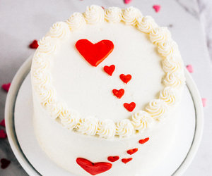 cake, heart, and happy valentines day image