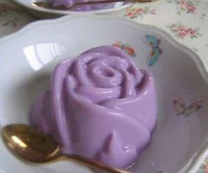 food, rose, and dessert image