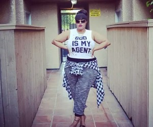 model, outfit, and plus size image