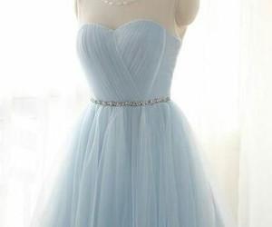 dress, light blue prom dress, and blue image