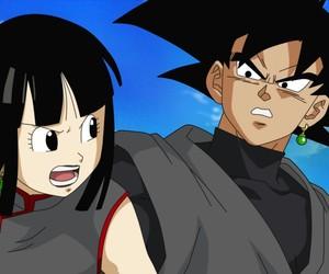 black chichi, dragon ball z, and goku image