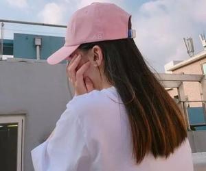 girl, pink, and ulzzang image