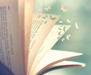 book, butterfly, and read image