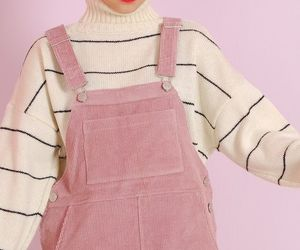 pink, pastel, and outfit image