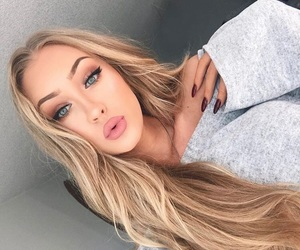 blonde, cyber, and eyebrows image