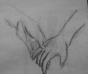 drawings, hands, and sketch image