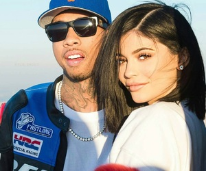 couple, tyga, and kylie jenner image