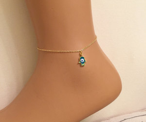 bridal jewelry, etsy, and gold anklet image
