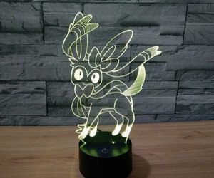 eevee, pokemon, and color changing image