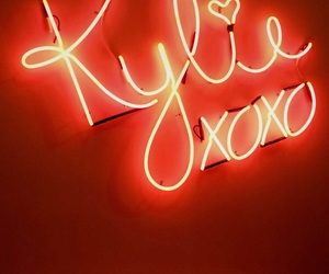 red, kylie jenner, and lights image