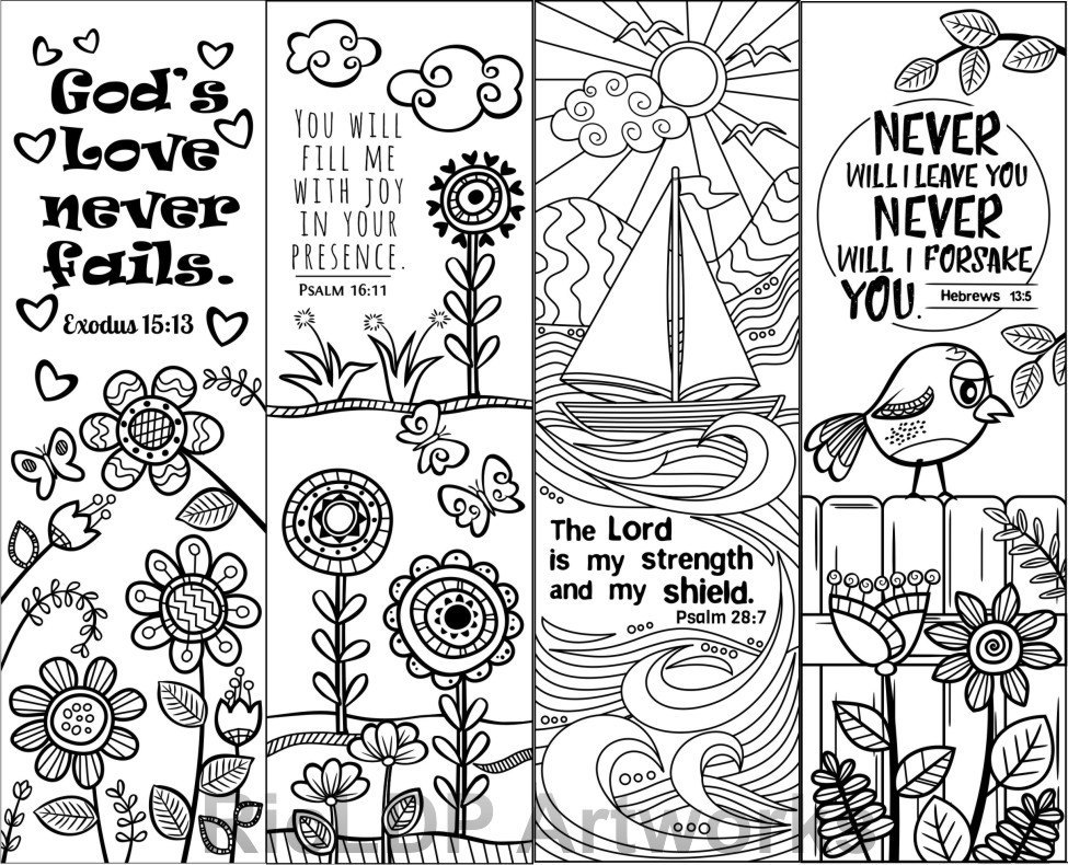 It's just an image of Geeky Free Printable Bible Verse Bookmarks to Color