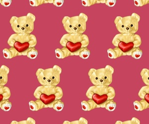 background, bear, and pattern image