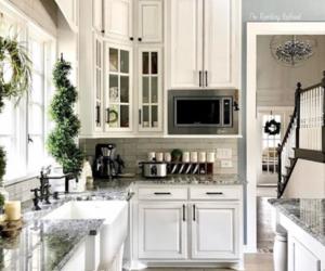interiors, kitchen, and white image