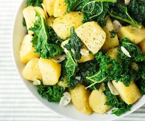 delicious, kale, and potato image