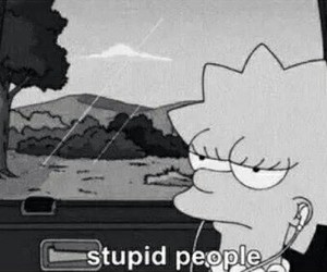 stupid, people, and simpsons image