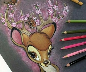 bambi, art, and disney image