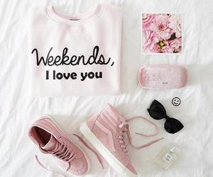 pink, outfit, and clothes image