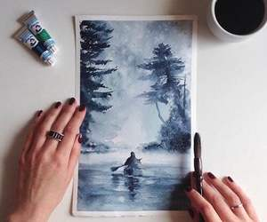 amazing, blue, and drawing image