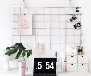 decor, desk, and white image