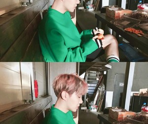 jung hoseok, green, and korean image