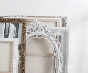 white, interior, and mirror image