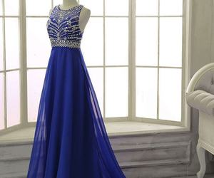 dress, gowns, and Prom image
