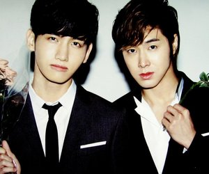 boys, changmin, and flowers image