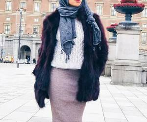 fashion, hijab, and scarf image