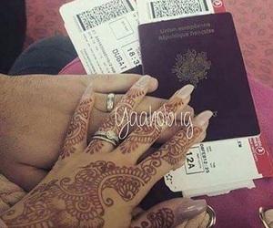 couple, henna, and lové image