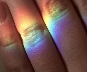 fingers, hand, and light image