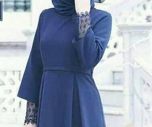 Bleu, blue, and dress image
