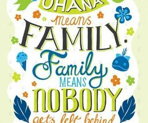 ohana, disney, and wallpaper image