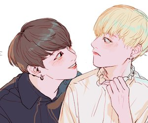 art, bts, and vkook image