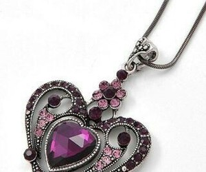 fashion, heart, and neckles image