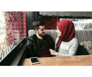 couples, hijab, and muslim couple image