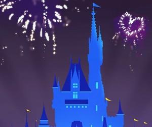 castle, disneyland, and fireworks image