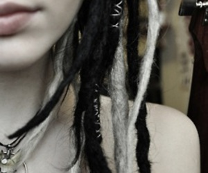dreads, girl, and black image