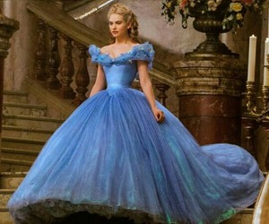 cinderella, blue, and dress image