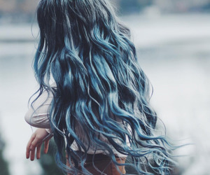 hair, blue, and beauty image
